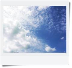 Jag tycker om när himlen är blå.