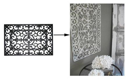 Dörrmatta som väggdekoration, Apartment Therapy