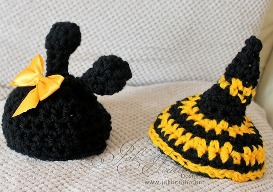 crochet busy bee set