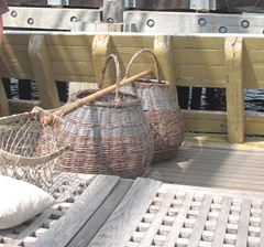 Plymouth Mayflower 8.13 fishing baskets and net