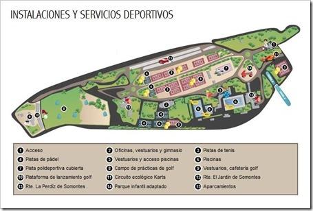 instalaciones complejo deportivo somontes 2013 mapa