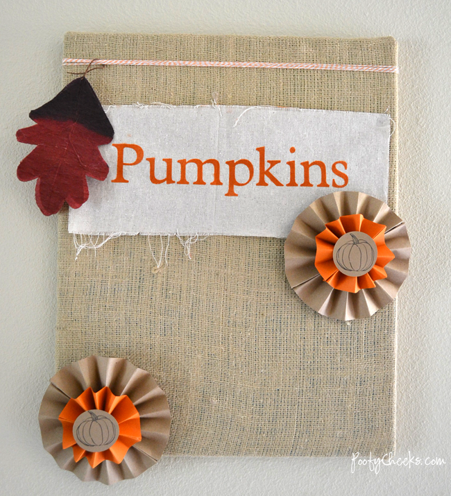 Fall Burlap Canvas from www.poofycheeks.com