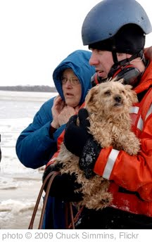 'Coast Guard rescues pet and owner' photo (c) 2009, Chuck Simmins - license: http://creativecommons.org/licenses/by/2.0/
