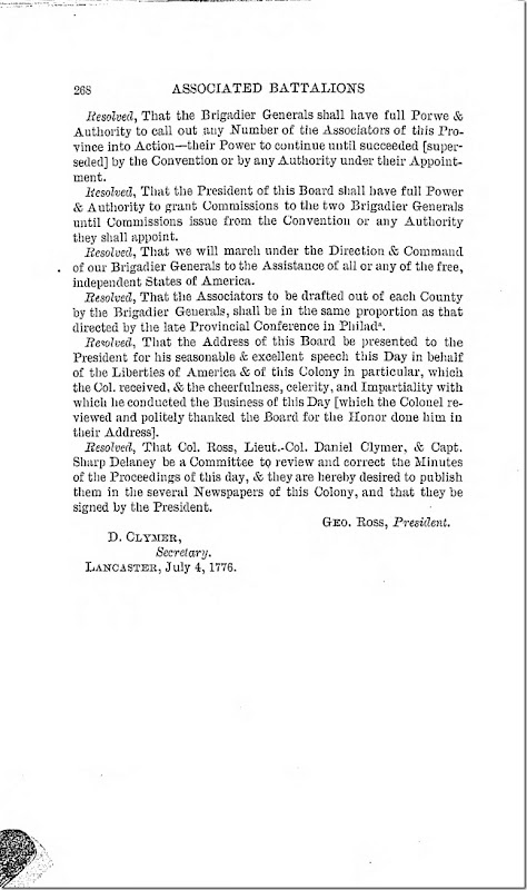 Pennsylvania Archives Series 2 Volume 13 Documents Relating to the Associations and Militia in General Page 268