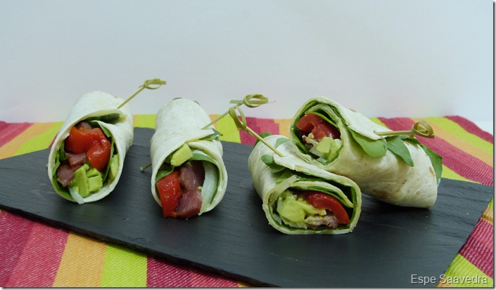 wraps espinacas