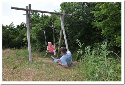 Daddy and Isla Swing 2