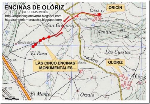 MAPA ENCINAS DE OLÓRIZ