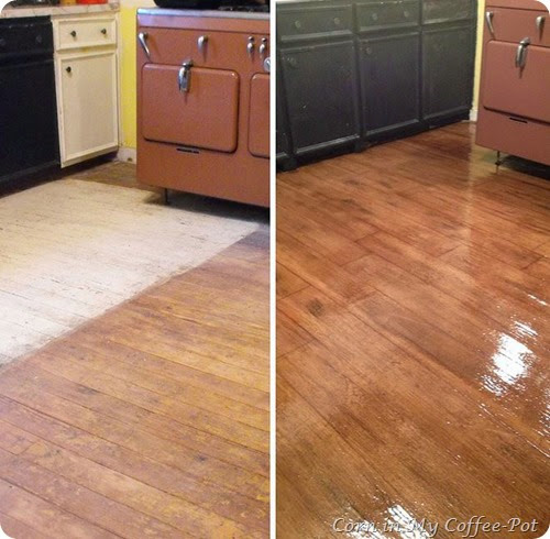 paperflooring before and after