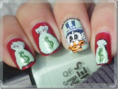 uncle scrooge nail art 2