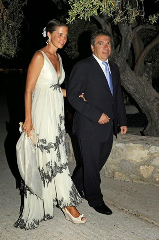 Victoria de Borbón Dos Sicilias y su marido, Marcos Nomikos