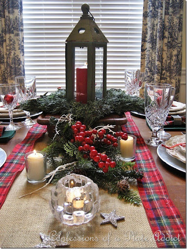 christmas plaid table runner 2