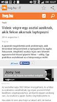Screenshot of Hírkereső - friss hírek