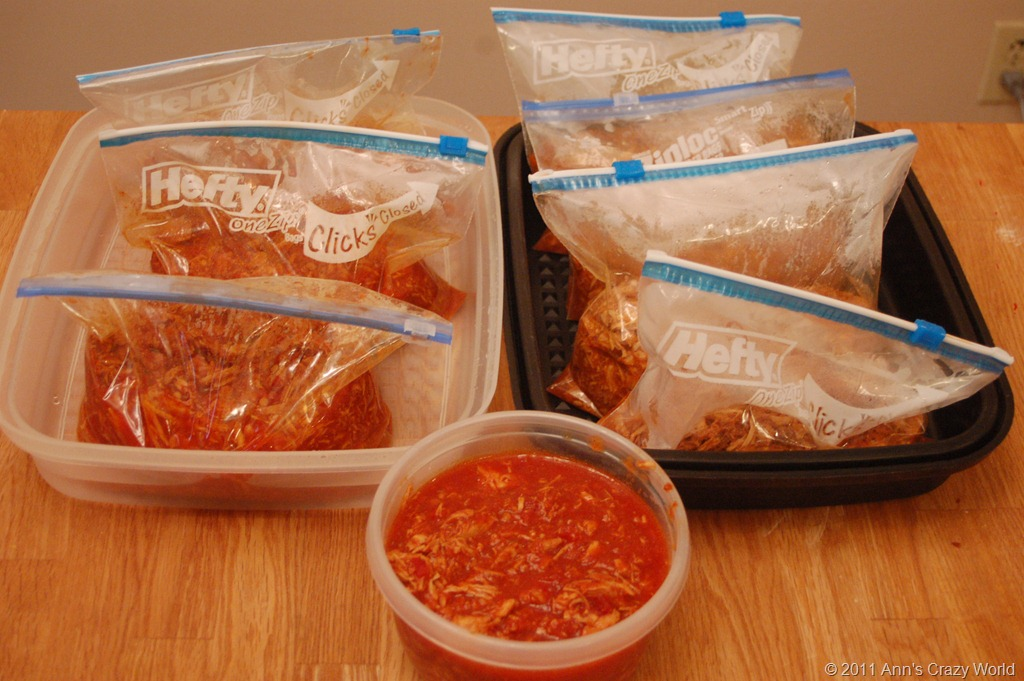 Meals Ready For The Freezer
