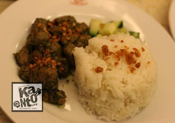 Pork Tenderloin in Asian Pesto Sauce.