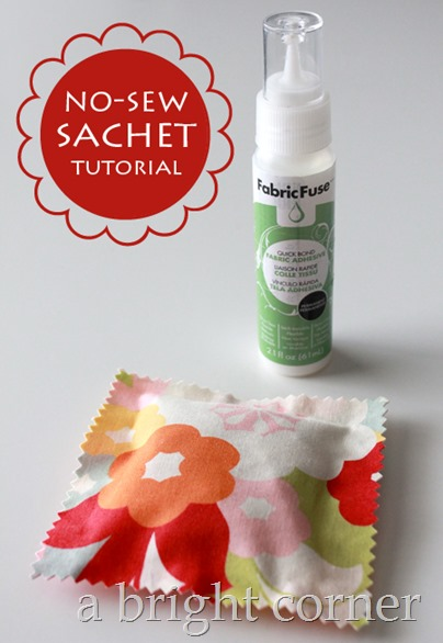 no sew sachet tutorial