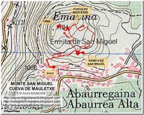 Mapa monte San Miguel