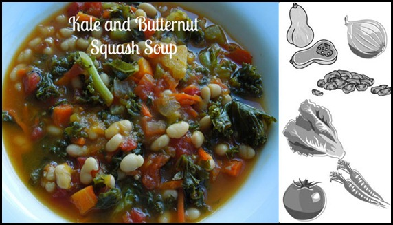 kale and butternut squash soup