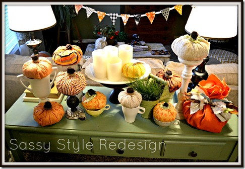 how to make a pumpkins with a square of fabric-pumpkin fable fall