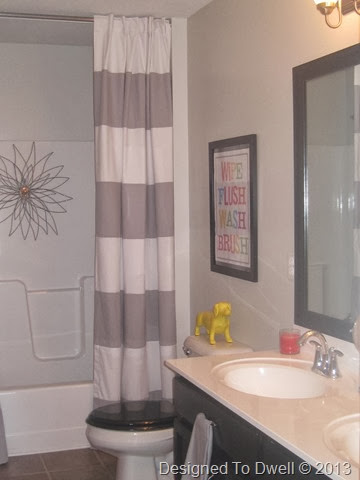 Neutral Kids Bathroom with Pops of Color