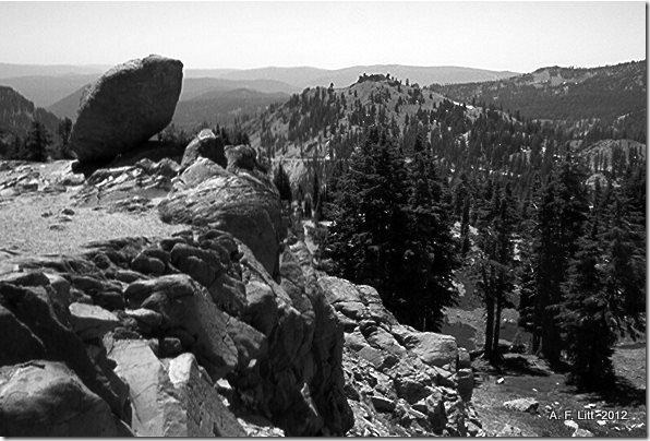 Balanced Rock. Photo of the Day, February 11, 2012.  Bumpass Hell Parking Lot, Lassen Volcanic National Park, California.  July 2004.