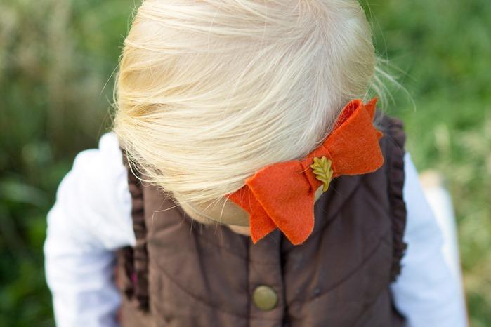 Indie and Olive Fall Headband, Orange Headband