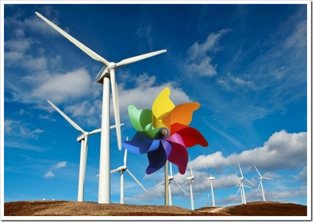 Pinwheel wind farm