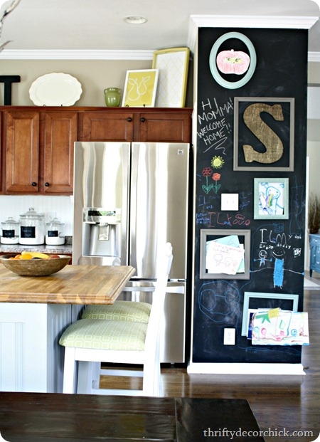 chalkboard in kitchen