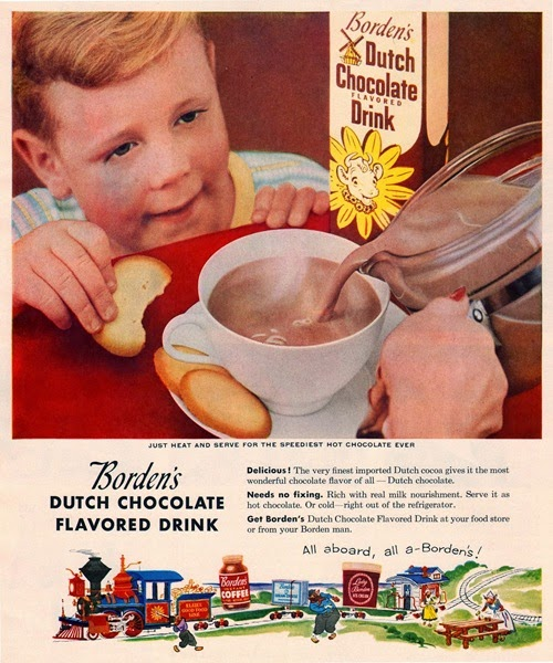 borden's chocolate flavored drink 1955