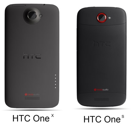 HTC One X vs HTC One S Back