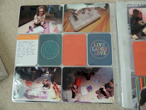 Snow Day Project Life Page
