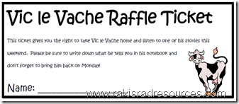 Use Vic le Vache as a free, easy classroom management technique that also promotes creative writing