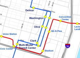 NsSs MetroLink Downtown Alignment