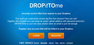 ตั้งค่าให้เพื่อนสามารถอัพโหลดไฟล์ไปยัง dropbox เราได้