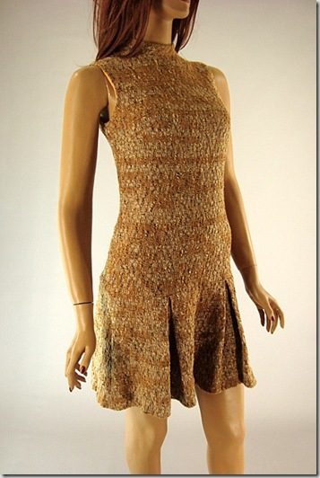 vintage fall pleated dress and jacket 12