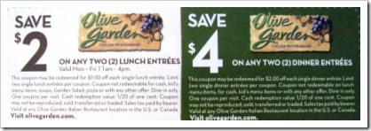 Olive Garden Smart Source Coupons Think n Save