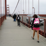 It's windy on the bridge!