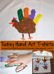 Turkey Hand Art t-shirt Kids Craft