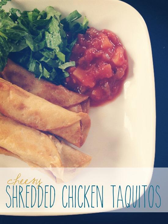 Shredded Chicken Taquitos