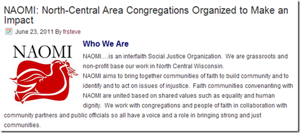NAOMI - North-Central Area Congregations Organized to Make an Impact