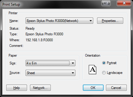 Lightroom Step 1 - Windows Epson Stylus Photo R3000