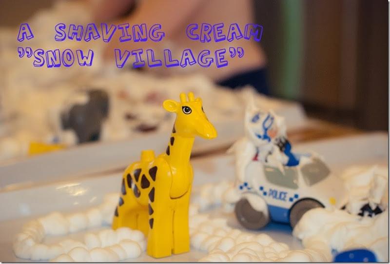 shaving cream snow village