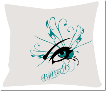 coussin design Butterfly