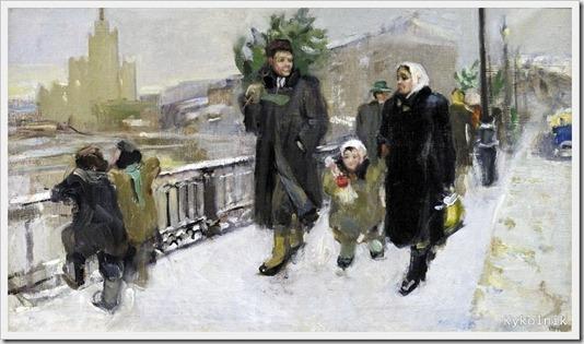 Тараканова Екатерина Николаевна (Россия,  1932) «Перед Новым годом» 1951