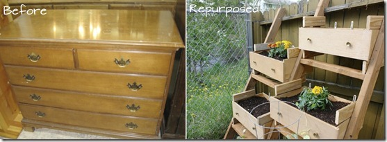 repurposed drawers veggie garden