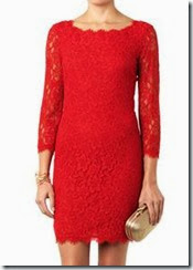 Diane von Furstenberg Red Lace Zarita Dress