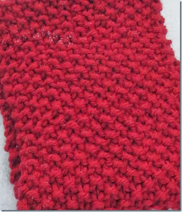 Knitting Dragonflies Seed Stitch Cowl Scarf