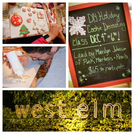 West Elm Holiday Cookie Decorating Workshop Marilyn Johnson collage 2