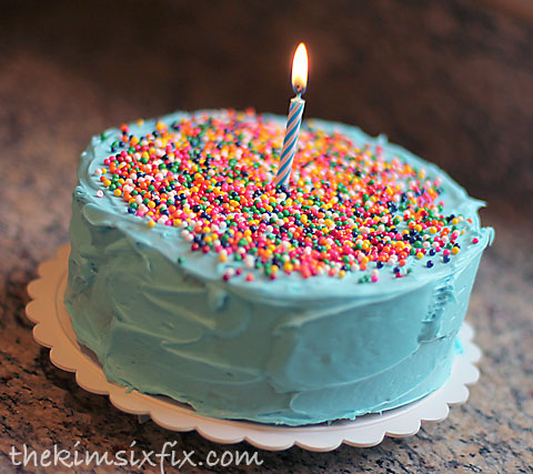 Sprinkles birthday cake