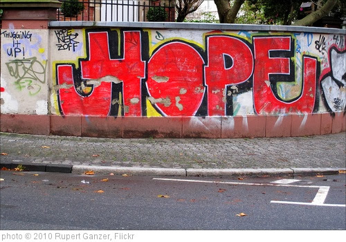 'HOPE' photo (c) 2010, Rupert Ganzer - license: http://creativecommons.org/licenses/by-nd/2.0/