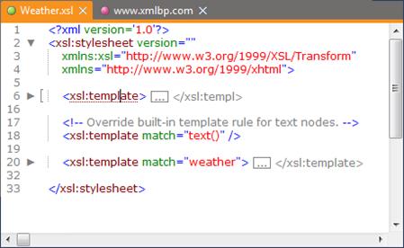 XML Folding